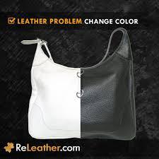 change color dye leather handbag purse