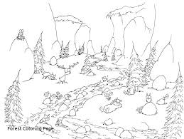 Forest Coloring Pages Printable Forest Coloring Pages Printable
