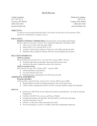 Accounting Student Resume Objective Objective Resume Templates Art