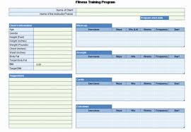 Personal Training Chart Personal Fitness Plan Template Beautiful Workout Chart For