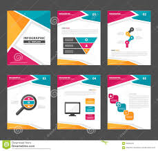 Marketing Flyers Templates Pink Yellow Green Infographic Elements Presentation Template