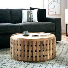 round drum coffee table metal