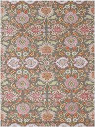 a whimsical fl from the valencia collection by amer is hand tufted of blended new zealand wool and art silk bokara rug