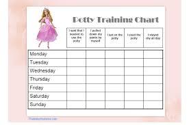 Potty Training Chart Printable Potty Training Chart Girls Free Character Potty Training