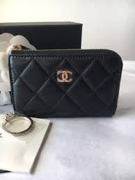 chanel zip coin purse. auth bnib chanel classic cc o-card holder coin purse zip pouch wallet key