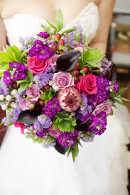 ... Purple Bouquet with Protea by Dandie Andie Floral Designs and Boakview  Photography ...