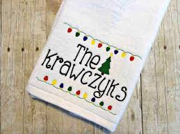 personalized kitchen towels embroidered name towel