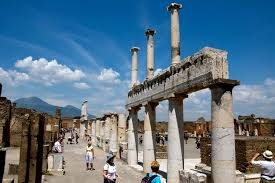 what do ce and bce mean  tourists the ruins of the ancient city of pompeii