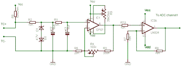 simple thermocouple amplifier delabs schematics electronic circuit simple thermocouple amplifier