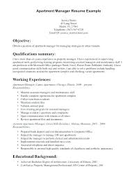 sample resume for apartment manager property management resume samples foodcity me