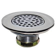 4 1 2 mobile home flat top shower drain strainer in chrome