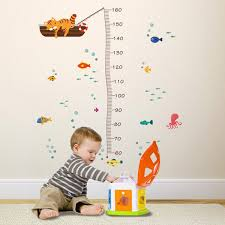 Details About Cute Cat Sea Aquarium Height Measure Wall Sticker Growth Chart Decal Kid Room