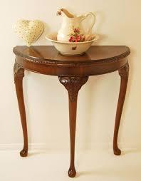 demilune hall table. Small Demilune Console Table Walnut Demi Lune Consoles Tables Hall Side Antique Smaller Beautiful Design Three E