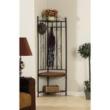 Hallway Furniture Coat Rack Furniture Entryway Bench With Shoe Storage Made From Black Painted 39