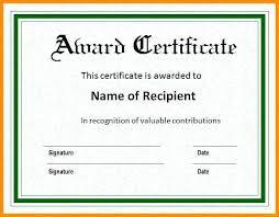 Award Certificates Word Gorgeous Certificate Template Microsoft Word Puebladigitalnet