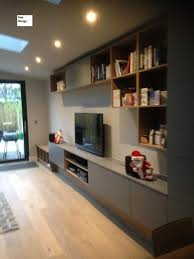 Dee Design Kitchens Grey And Oak Melamine Media Cabinet In 2019 Fitted