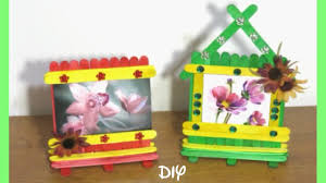 popsicle picture frame crafts stick
