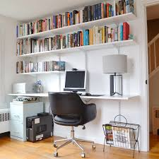 build a hanging shelving and desk unit