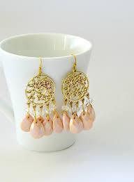 boho style dangle chandelier earrings