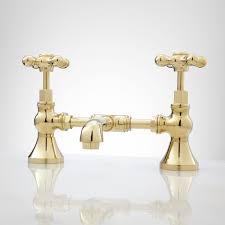 Brass Bathroom Faucet Monroe Bridge Bathroom Faucet Cross Handles Bridge Bathroom