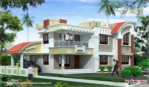 Modern House Front View Double Floor Modern House