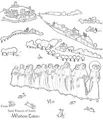 St Francis Coloring Page St Of Coloring Pages Saints Printable