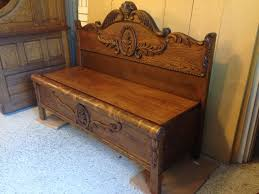 repurposed antique furniture. repurposed antique oak 34 size bed frame into a functional bench seat used furniture