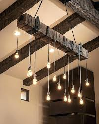 round wood chandelier rustic