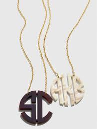 Acrylic Block Monogram Necklace