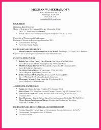 Occupational Therapy Resume Template New Sample Entry Level Occupational Therapy Resume Beautiful