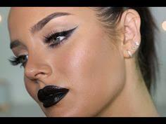 ultimate dark glam makeup tutorial black lips
