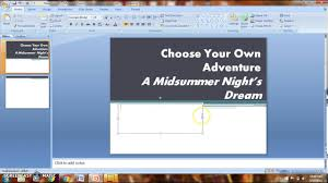 Choose Your Own Adventure Story Template Choose Your Own Adventure Ppt Step 1 Set Up Slides Youtube