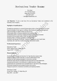 Derivatives Trader Resume Free Word Doc Resumes Resume Builder