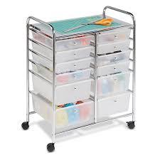 plastic storage drawers. Amazon.com: Honey-Can-Do Rolling Storage Cart Organizer 12 Plastic Drawers: Home \u0026 Kitchen Drawers