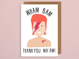 Mothers Day Card Template Adorable Wham Bam Thank You Maam Mothers Day Card David Bowie Card Etsy