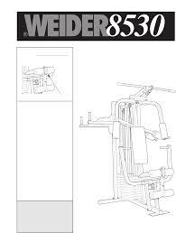 Weider 8530 Weight Chart