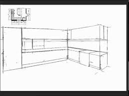 Plain Kitchen Drawing Perspective Tutorial O For Models Ideas
