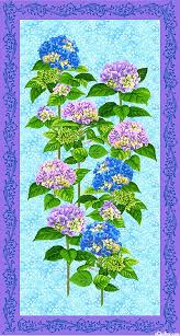 12 best quilted hydrangea images on Pinterest | Hydrangea ... & Budding Beauties Quilt Fabric Ro Gregg Hydrangeas Panel 25 x 44 1 Adamdwight.com