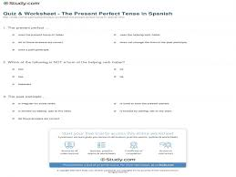 Quiz & Worksheet - The Present Perfect Tense In Spanish | Study ...