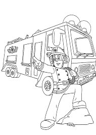 Fire Truck Coloring Pages For Kids With Free Fire Truck Coloring