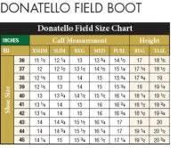 Donatello Field Boot Size Chart Tredstep Donatello Junior