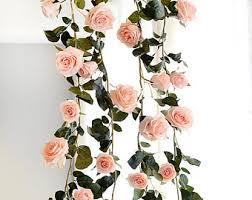 White Paper Flower Garland Paper Flower Garland Etsy
