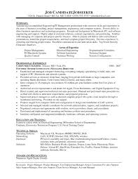 Manager Resume Example Engineering Long Consultant Template Project