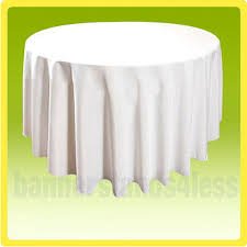 120 white round tablecloth table cover wedding banquet event cloth