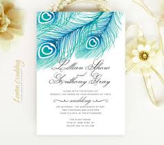 peacock invitations inexpensive wedding invitations lemonwedding
