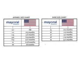 Mayoral Size Chart Buttercup Baby Co
