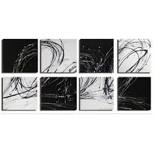 abstract checkers on black and white wall art sets with oversized abstract canvas wall art sets