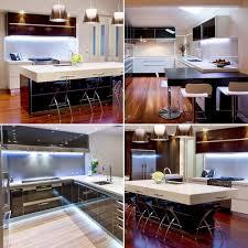 white kitchen lighting. Cool White Under Cabinet Kitchen Lighting / Plasma TV LED Strip Sets