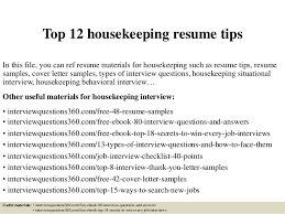 Housekeeping Resume Cool Top 60 Housekeeping Resume Tips