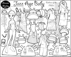 Small Picture Jazz Age Baby Twenties Fashion Paper Doll Coloring Page
